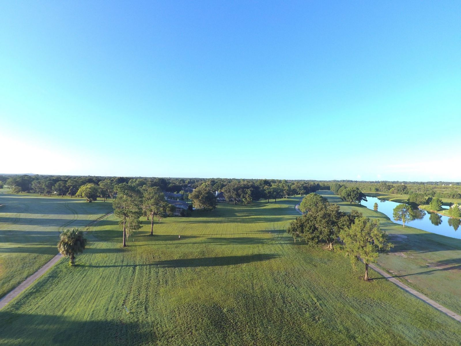 View from drone of the golf course at cypresswood